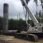 75 ton crawler crane for difficult terrain sites