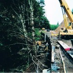 access - anchor installation from crane held platform 3