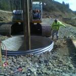 Large shaft drilling