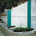 Epoxy painted beams w concrete panels
