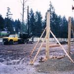 Small truck drill, pole barn shafts