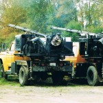 Small truck mounted drills