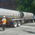 Mobilizing large direct-embed  pole base