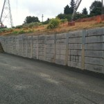 Completed concrete panel installation