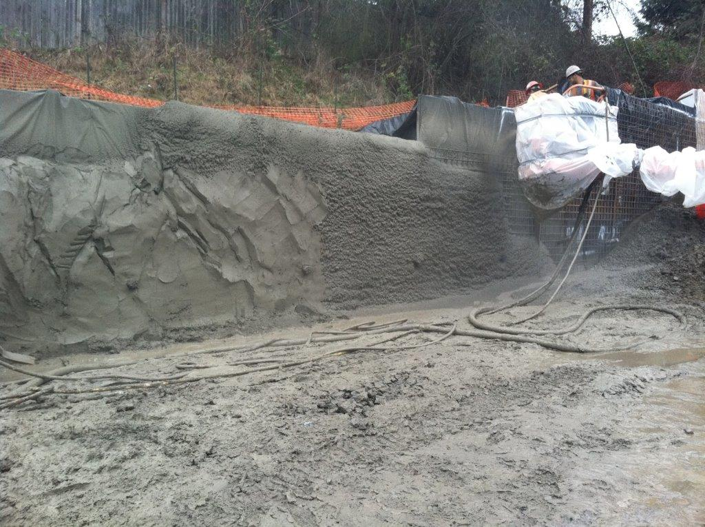 Placing shotcrete - DMI Drilling