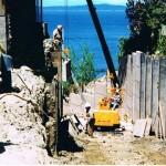Concrete lagging panels