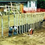 Timber lagging installation