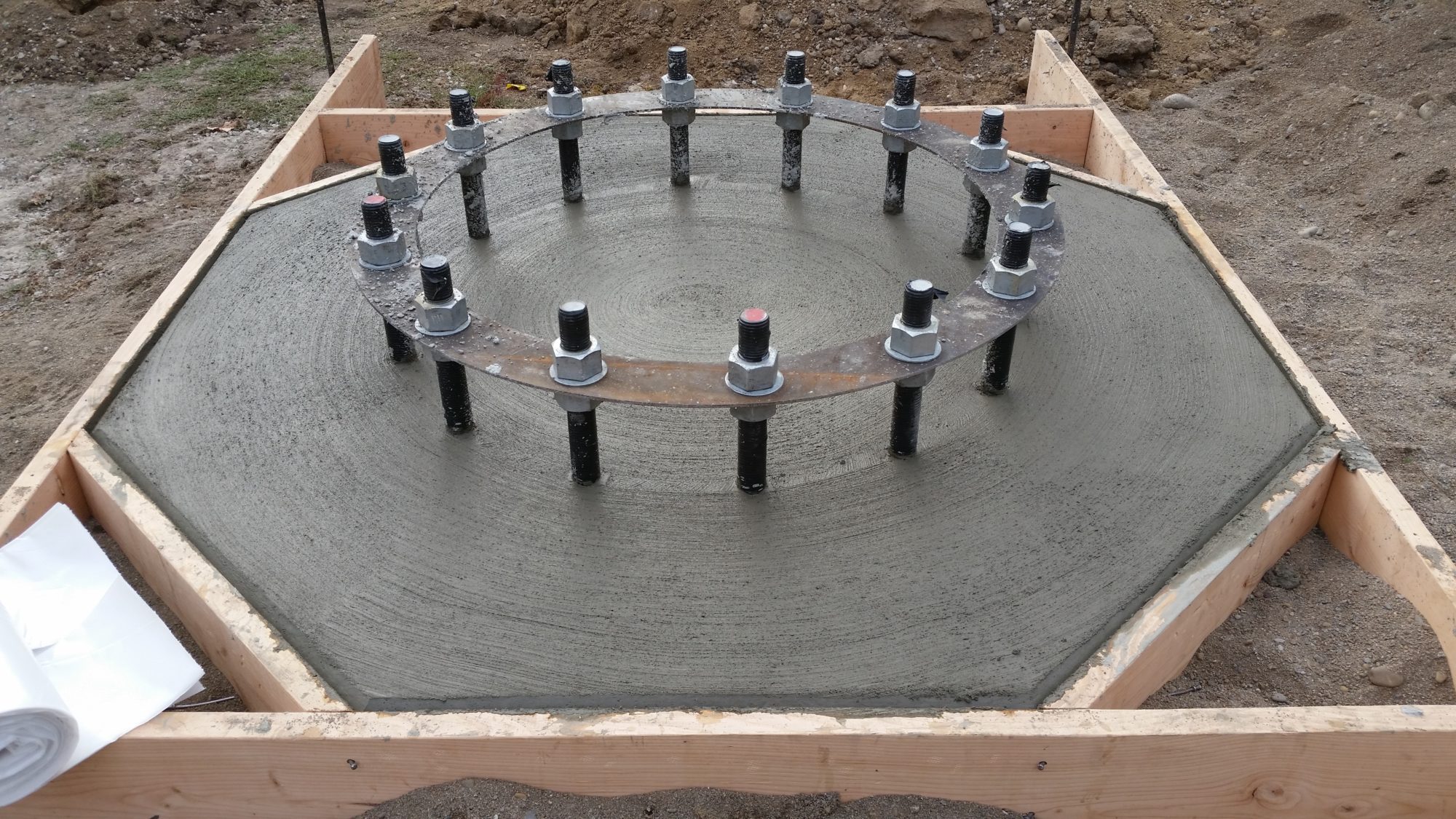 Tower Pole Foundation
