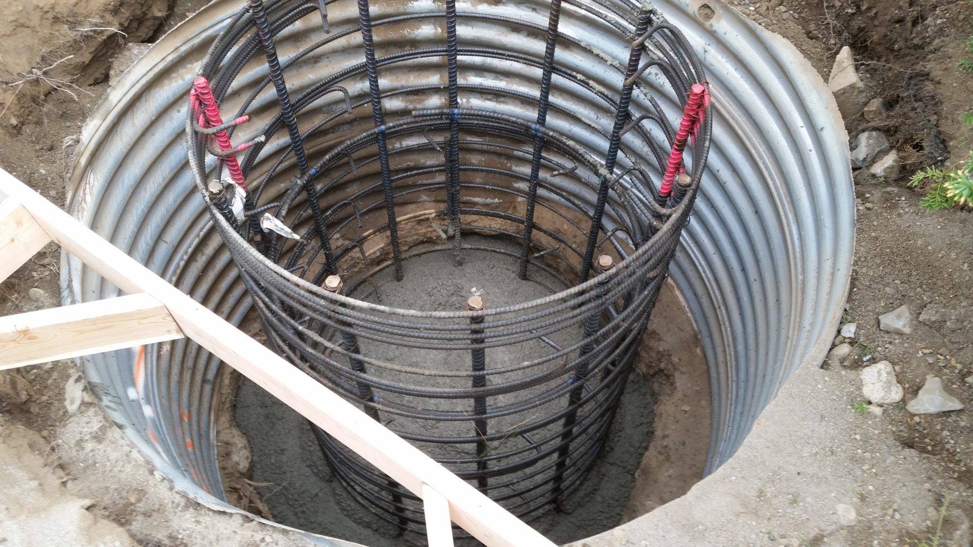 Rebar Cage Cell Tower Foundation