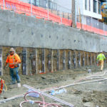 Shotcrete Wall with Vertical Elements