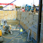 Grouting tiebacks - Shoring