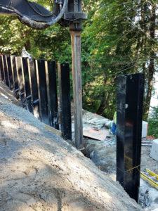 Soldier Piles For Shoring Seattle Washington